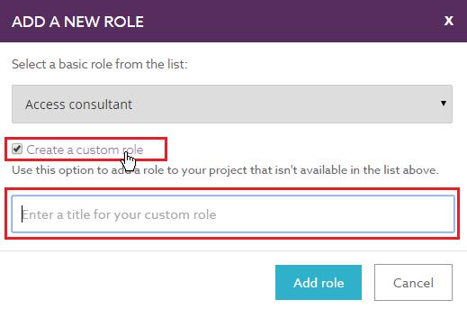 Custom Role Modal