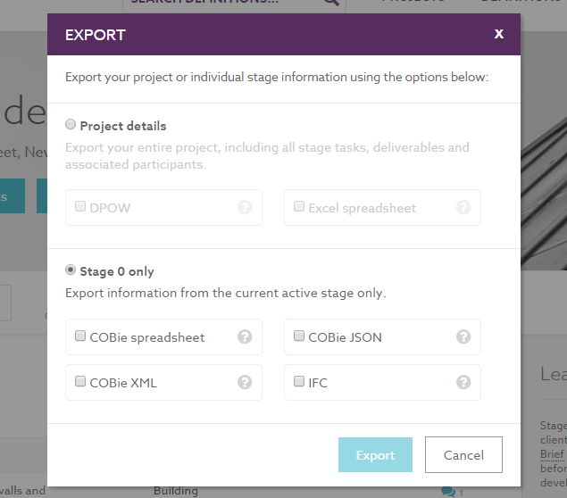 Export a project