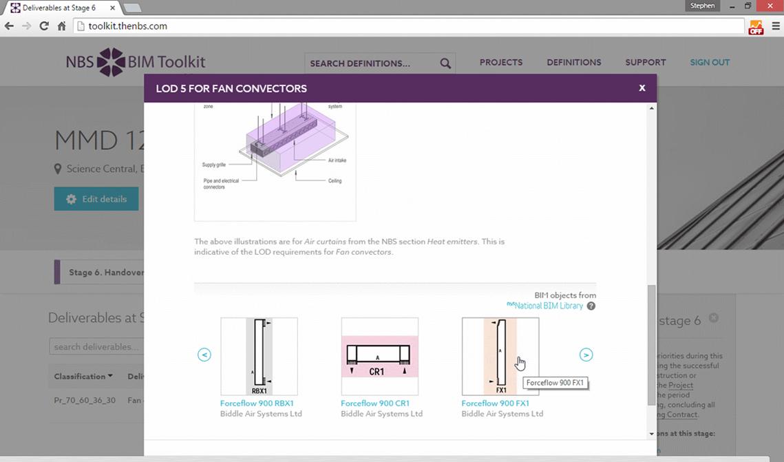 Manufacturer BIM objects for fan convectors